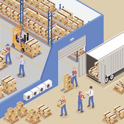 Armazenagem e distribuição de cargas